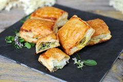 Spinach and vegetable pastry Royalty Free Stock Photos