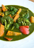 Spinach vegetable soup Stock Photo