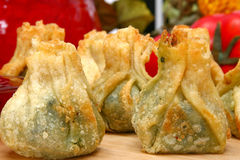 Spinach Wrap Appetizer Royalty Free Stock Image
