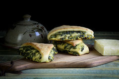 Spinach Yeast Dough Strudel Swiss Chard Rolls Royalty Free Stock Image