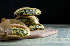 Spinach Yeast Dough Strudel Swiss Chard Rolls Stock Photography