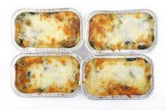 Spinaci cotti con formaggio Fotografia Stock