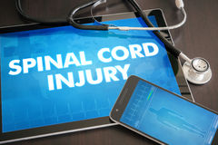 Spinal cord injury (neurological disorder) diagnosis medical con Stock Image
