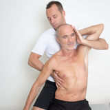 Spinal manipulation Stock Images