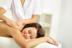 Spinal massage Royalty Free Stock Image