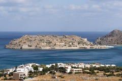 Spinaloga海岛克利特,希腊 免版税库存图片