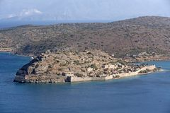 Spinaloga海岛克利特,希腊 图库摄影