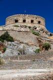 Spinalonga海岛堡垒。 免版税库存图片