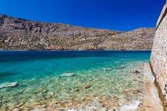 Spinalonga海岛堡垒  免版税图库摄影
