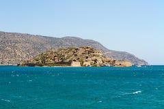 Spinalonga海岛 免版税库存图片