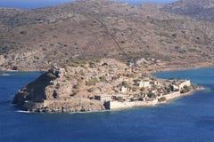 Spinalonga ö, Crete Royaltyfria Bilder