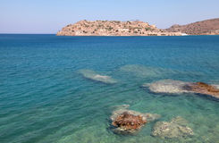 Spinalonga ö (Crete, G Arkivbilder