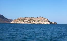 Spinalonga ö (Crete, Grekland) Arkivfoto