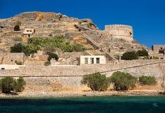 Spinalonga ö crete Grekland Arkivfoton