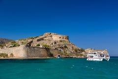 Spinalonga ö crete Grekland Royaltyfri Foto