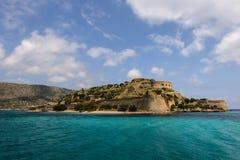 Spinalonga ö i Kreta, Grekland Arkivbilder