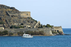 spinalonga royaltyfri bild
