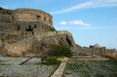 Spinalonga. A part of Spinalonga island near Ag. Nikolaos in Crete Greece Stock Images