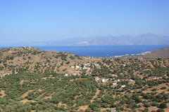 Spinalonga Bay Royalty Free Stock Photos
