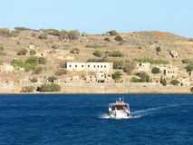 Spinalonga Boat Trip in Crete Royalty Free Stock Photos