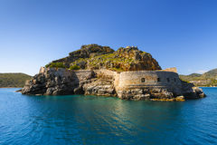 Spinalonga, Crete. Historical site of Spinalonga island on a sunny spring day, Crete, Greece Stock Photos