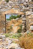 Spinalonga on Crete Island, Greece Stock Photo