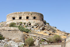 Spinalonga fortress in Crete Royalty Free Stock Image