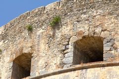 Spinalonga fortress in Crete Stock Photos
