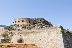 Spinalonga fortress in Crete Royalty Free Stock Photos
