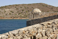 Spinalonga fortress in Crete near Elounda. Greece Stock Photos