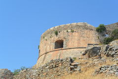 Spinalonga fortress royalty free stock photo
