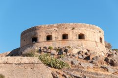 Spinalonga Fortress Tower Stock Image