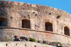 Spinalonga Fortress Tower Royalty Free Stock Photo