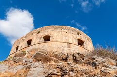 Spinalonga Fortress Tower Royalty Free Stock Image