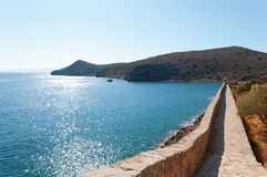 Spinalonga Fortress Wall Royalty Free Stock Photos
