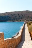 Spinalonga Fortress Wall Royalty Free Stock Photo
