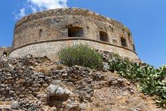 Spinalonga fotress Fotografering för Bildbyråer