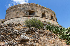 Spinalonga fotress Stock Image