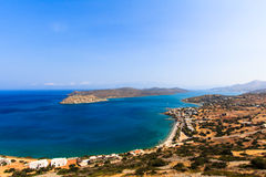 Spinalonga from the Hills Stock Images