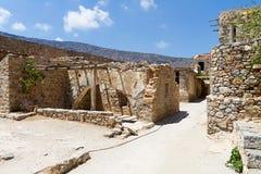 Spinalonga i Kreta Arkivfoton