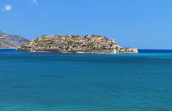 Spinalonga Insel bei Kreta, Griechenland Stockfotografie