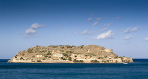 Spinalonga Island, Crete. View of the deserted island of Spinalonga, a former leper colony Royalty Free Stock Photo