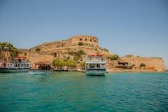 Spinalonga Island, Crete, Greece Royalty Free Stock Images
