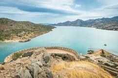 Spinalonga island ,crete - greece Royalty Free Stock Photography