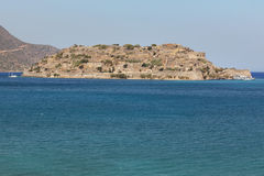 Spinalonga island in Crete near Elounda. Greece Royalty Free Stock Photos