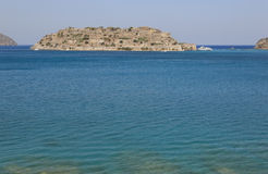 Spinalonga island in Crete near Elounda. Greece Stock Images