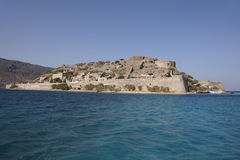 Spinalonga island in Crete near Elounda. Greece Stock Image