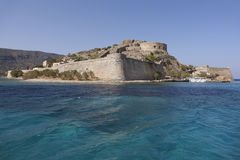 Spinalonga island in Crete near Elounda. Greece Stock Photos