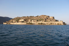 Spinalonga island in Crete near Elounda. Greece Royalty Free Stock Photo