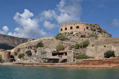 Spinalonga Island, Crete, old fort Stock Photos